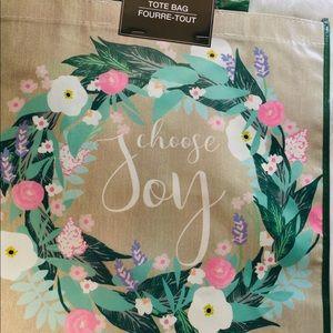 Handbags - 3 TOTE BAGS REUSABLE LOVE FLORAL FISH SMILE JOY
